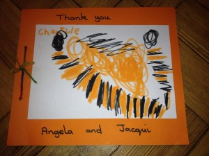 Thank you Ashton Gate  preschoolers- what a lovely card